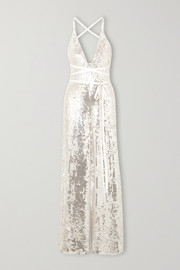 Bardot sequined crepe jumpsuit