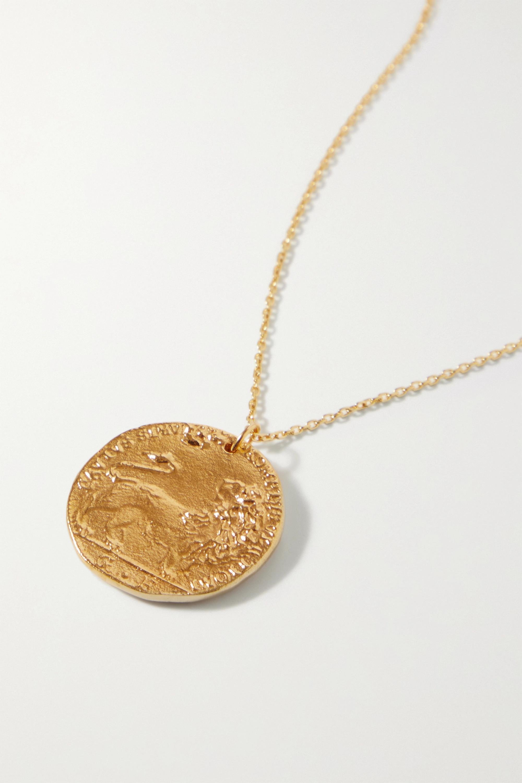 Alighieri Collier en plaqué or Il Leone Medallion