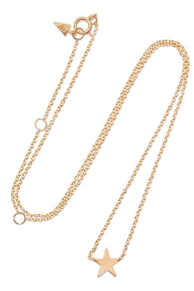 LOREN STEWART Mini Star Gold Necklace
