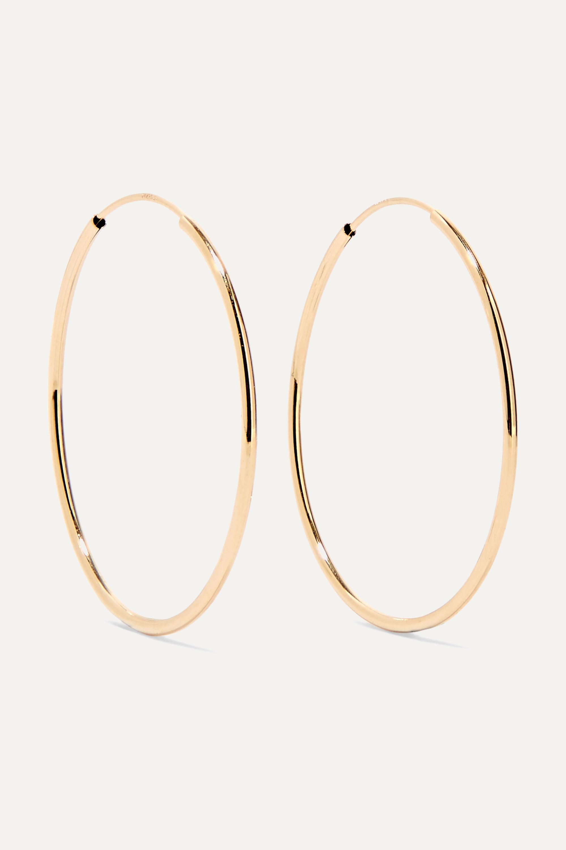Loren Stewart + NET SUSTAIN Infinity 14-karat gold hoop earrings