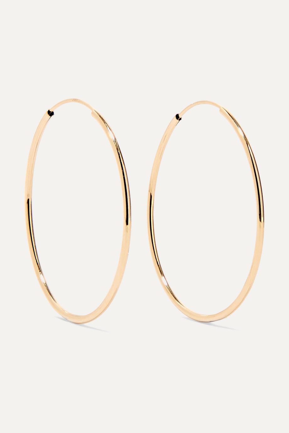 Loren Stewart Infinity 14-karat gold hoop earrings