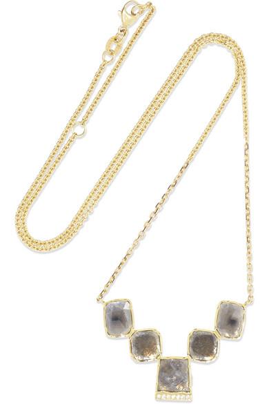 BROOKE GREGSON Ziggurat 18-Karat Gold Diamond Necklace