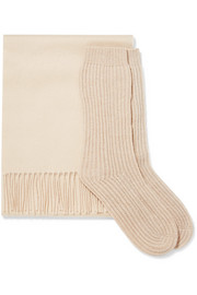 Cashmere scarf and socks set