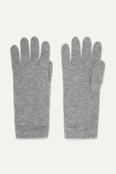 JOHNSTONS OF ELGIN Cashmere Gloves in Light Gray