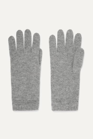 Johnstons of Elgin - 羊绒手套 - 浅灰色 - One size