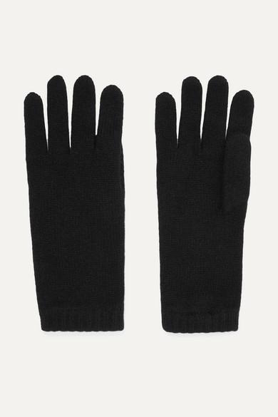 JOHNSTONS OF ELGIN Cashmere Gloves in Black