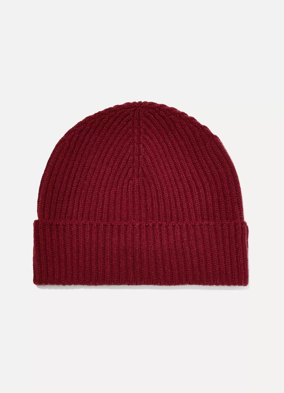 Johnstons of Elgin Ribbed cashmere beanie