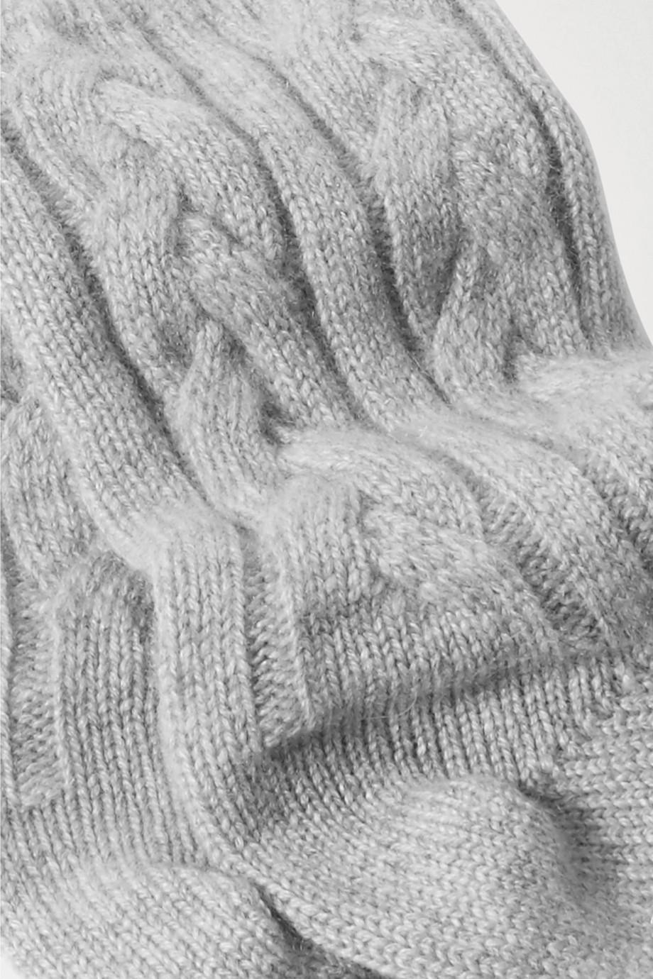 Johnstons of Elgin Cable-knit cashmere socks