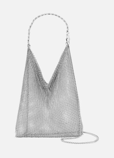 SASKIA DIEZ Chainmail Shoulder Bag in Silver