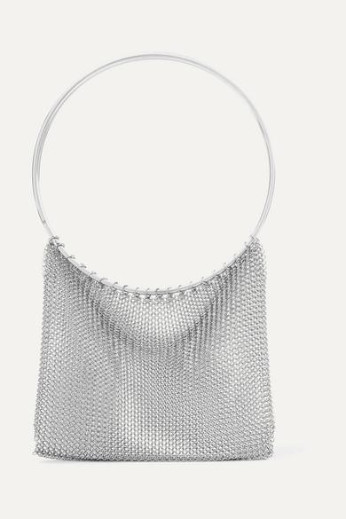 SASKIA DIEZ Chainmail Clutch in Silver