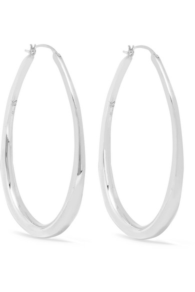SOPHIE BUHAI Medium Egg Silver Hoop Earrings