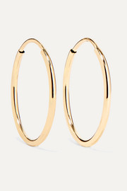 Loren Stewart Infinity gold hoop earrings