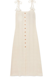 Arrieta tasseled voile midi dress