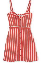 Le Petite striped linen mini dress