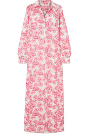Christina floral-print cotton-voile maxi dress