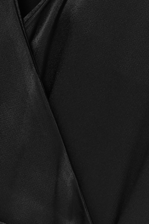 ROTATE Birger Christensen Satin wrap maxi dress