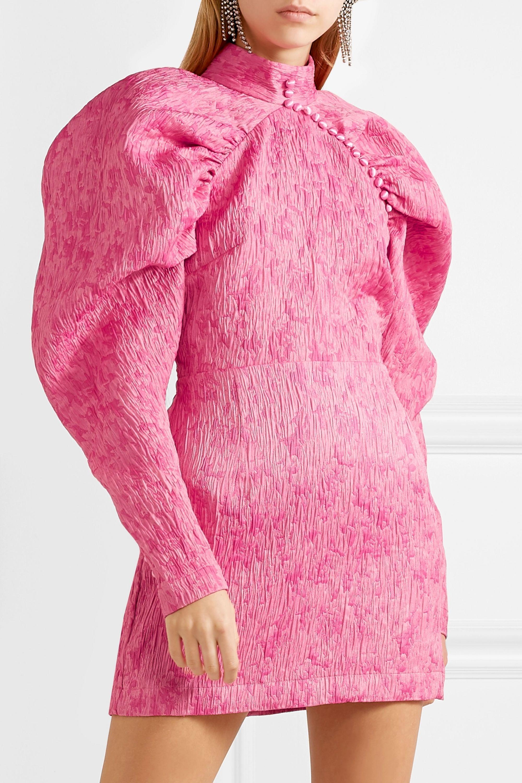 ROTATE Birger Christensen Gathered jacquard mini dress