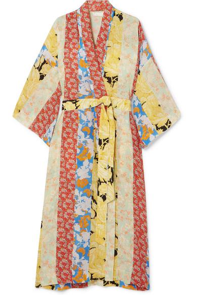 e1f899282cec Stine Goya   Veste longue en crêpe de Chine de soie à imprimé fleuri    NET-A-PORTER.COM