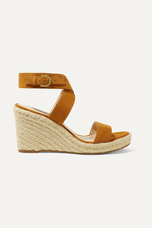 Stuart Weitzman Lexia suede espadrille wedge sandals