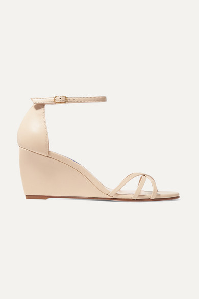 Stuart Weitzman Sandals Estarla leather wedge sandals