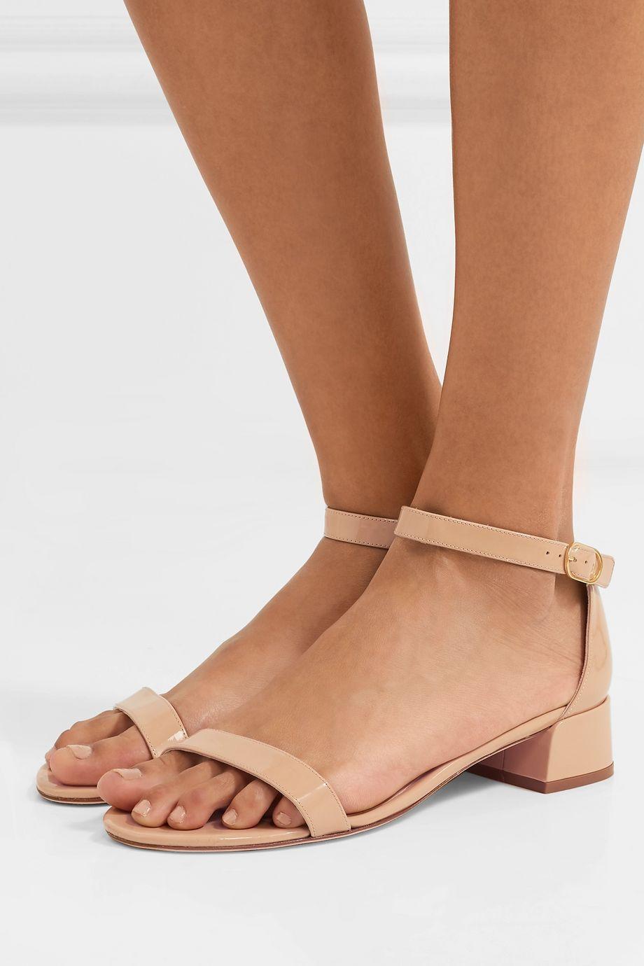 Stuart Weitzman NudistJune patent-leather sandals