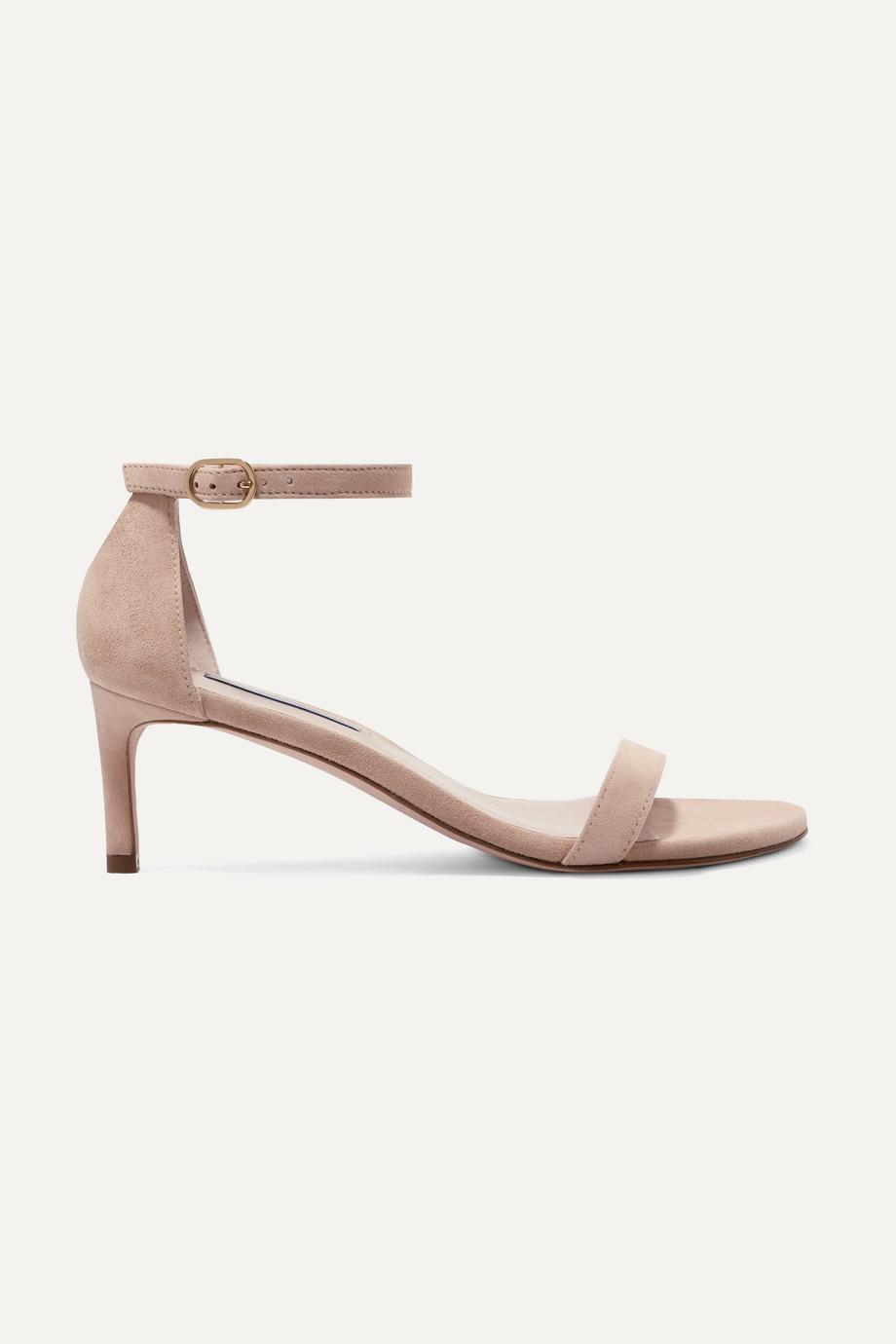 Stuart Weitzman Nunaked suede sandals
