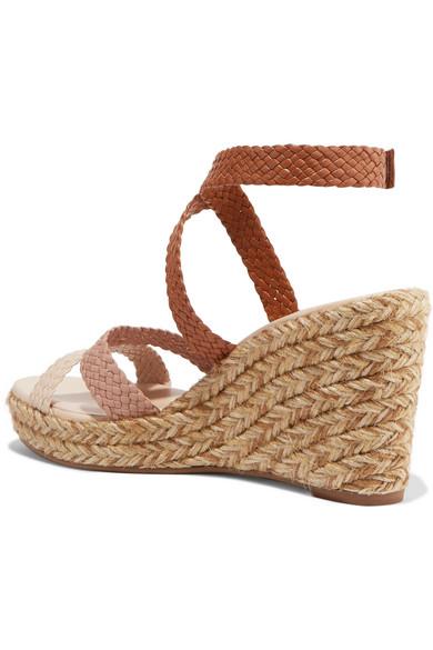 e4199388504 Stuart Weitzman   Elsie woven leather espadrille wedge sandals   NET ...