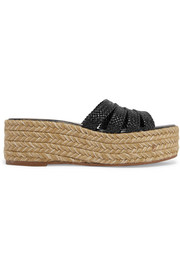 Elinore woven leather espadrille sandals