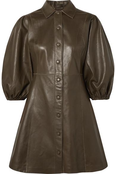 Ganni Dresses Leather mini dress