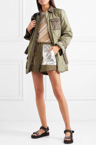 Aspen Quilted Shell Jacket by Ganni