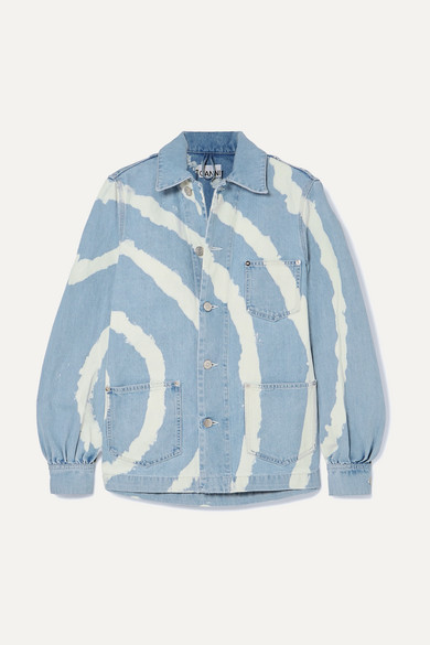 Ganni Jackets Bleached denim jacket