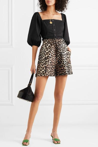 Ganni Tops Cotton-poplin blouse