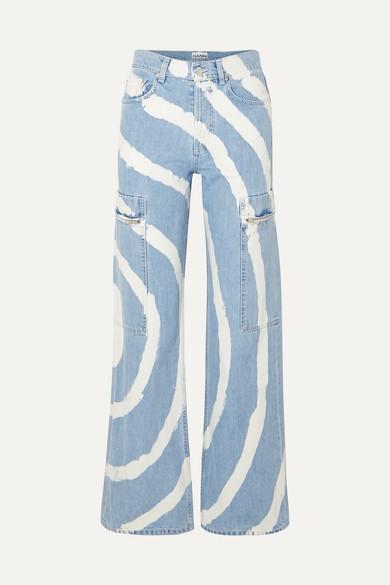 27f04c3154d Ganni Blackstone Bleached High-Rise Wide-Leg Jeans In Light Denim