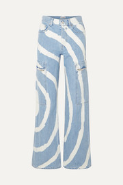 Blackstone bleached high-rise wide-leg jeans