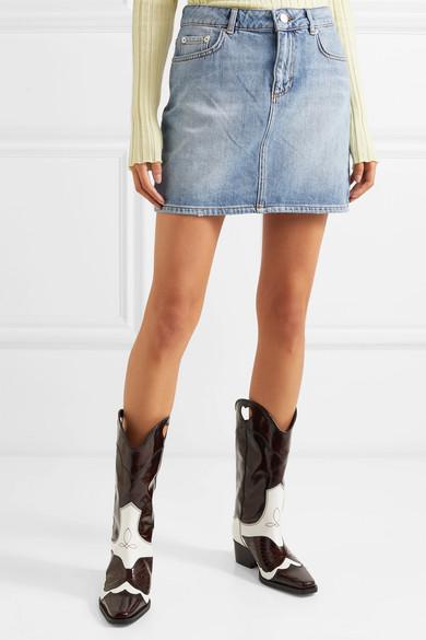 Ganni Skirts Denim mini skirt