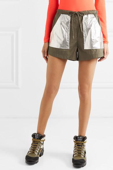 Ganni Shorts Two-tone shell shorts