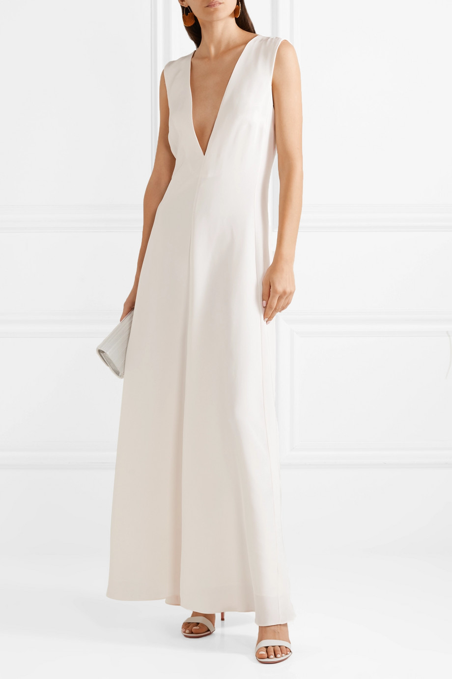 Michael Lo Sordo Silk-satin maxi dress