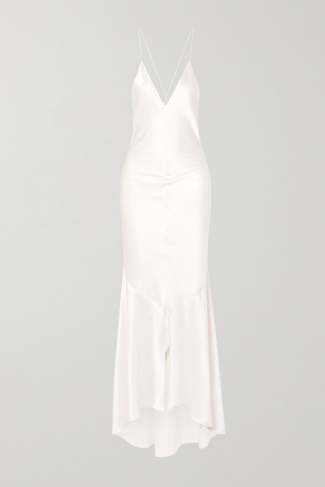 White Silk-satin gown | Michael Lo Sordo emRvUw