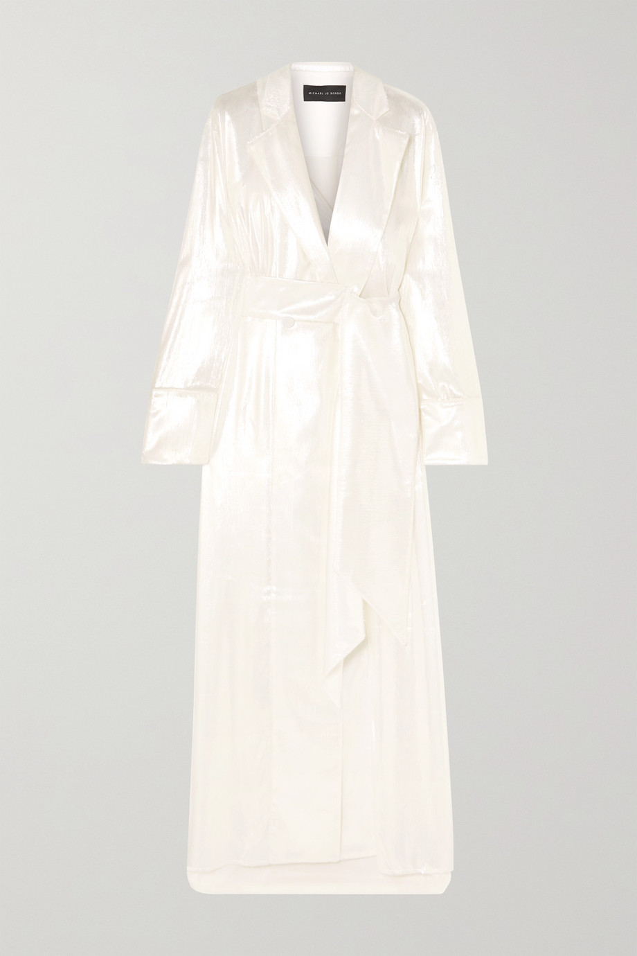 Michael Lo Sordo Double-breasted metallic velvet gown