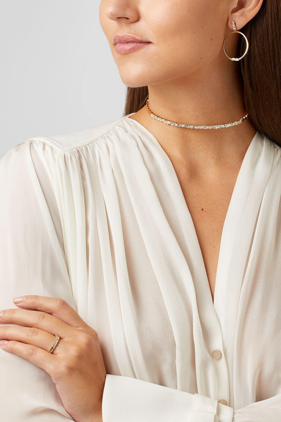 Suzanne Kalan Tour de cou en or 18 carats et diamants