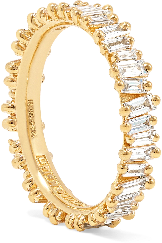 Suzanne Kalan Ring aus 18 Karat Gold mit Diamanten