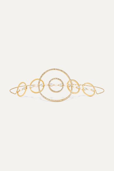 ANISSA KERMICHE | Anissa Kermiche - Virtuose 18-karat Gold, Sapphire, Pearl And Diamond Choker - one size | Goxip