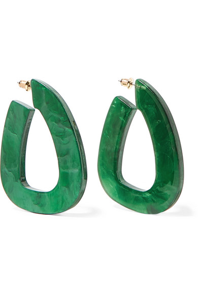 VALET Anais Resin Earrings in Green