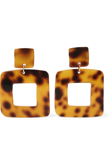 VALET Lois Tortoiseshell Resin Earrings