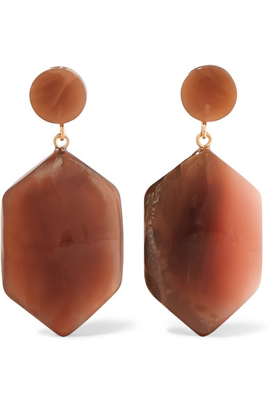 VALET Natalia Resin Earrings in Brown
