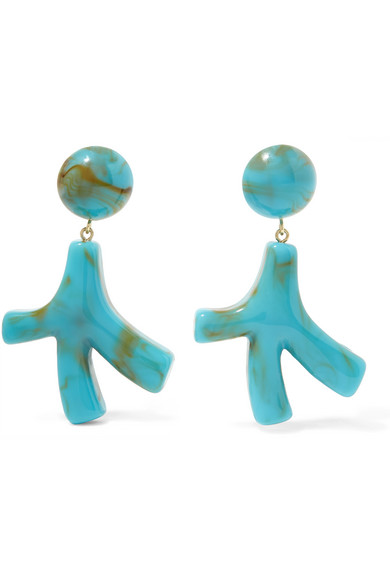 VALET Noemie Resin Earrings in Turquoise