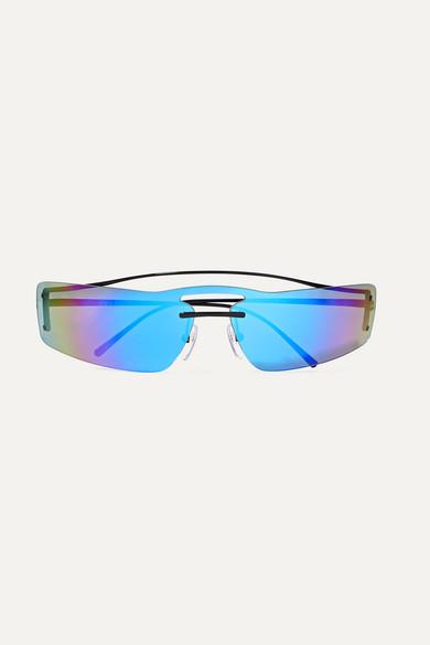 95925b85e6 Prada. Square-frame metal mirrored sunglasses