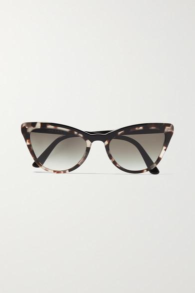 5d6405c9a131 Prada. Cat-eye tortoiseshell acetate sunglasses