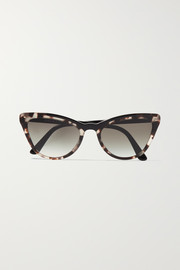 Cat-eye tortoiseshell acetate sunglasses