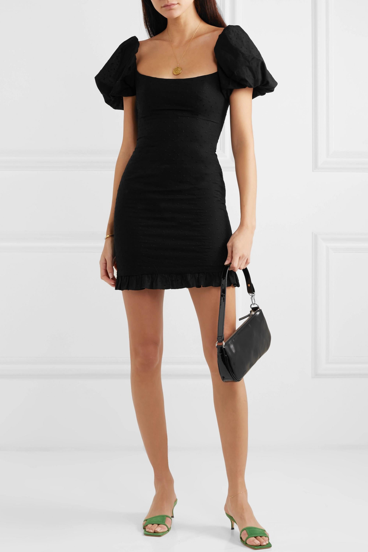 De La Vali Koko ruffled fil coupé cotton mini dress